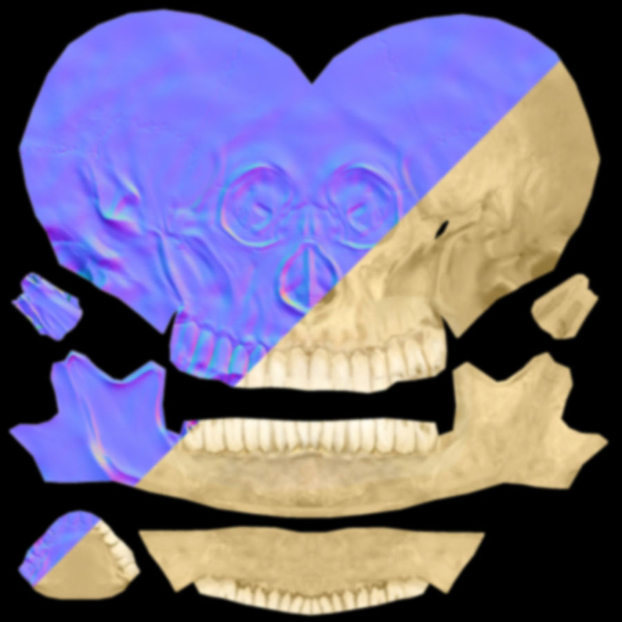 skull royalty-free 3d model - Preview no. 10