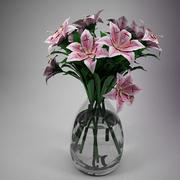 Blomma - Lily Pink 3d model