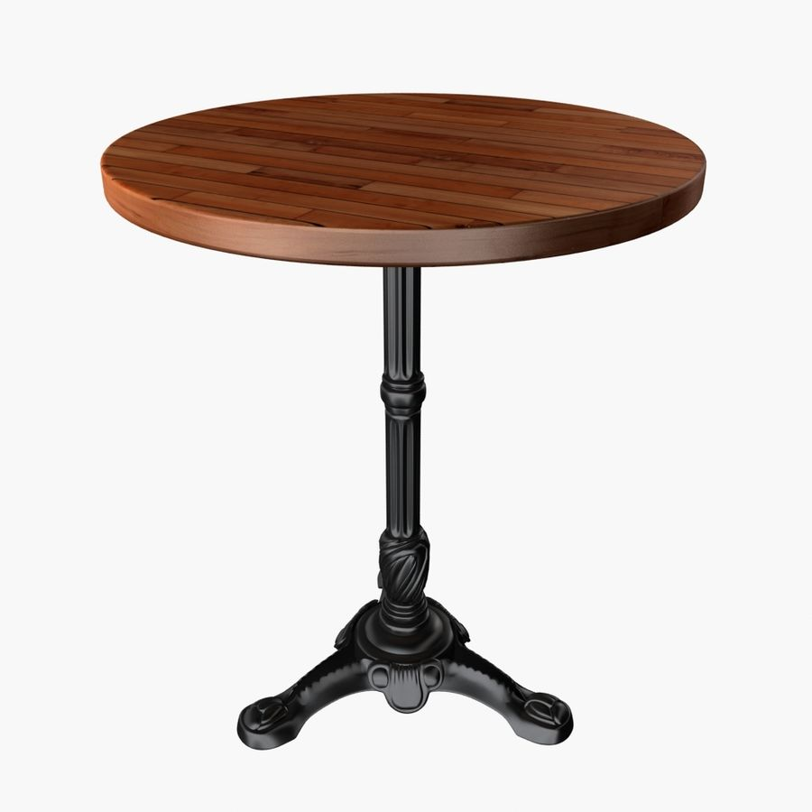 Table And Chair For Cafe 2 royalty-free 3d model - Preview no. 5
