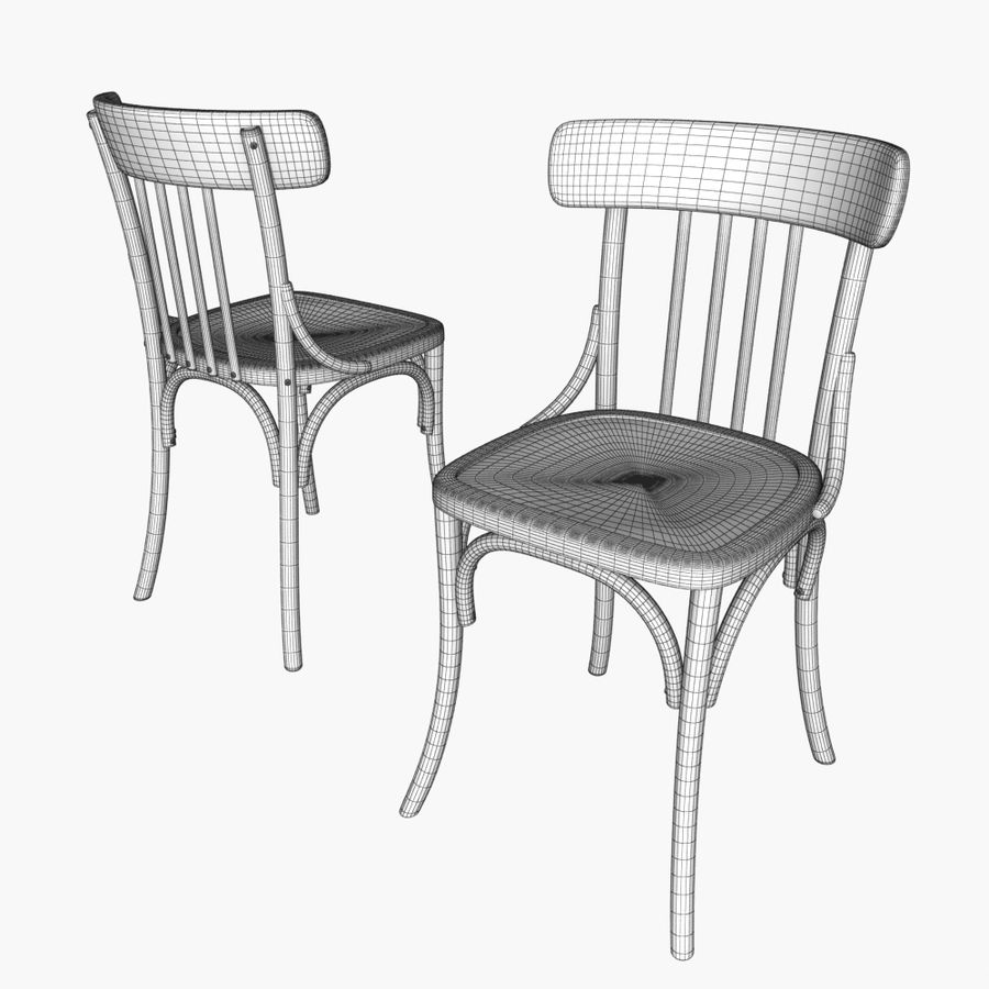 Table And Chair For Cafe 2 royalty-free 3d model - Preview no. 6