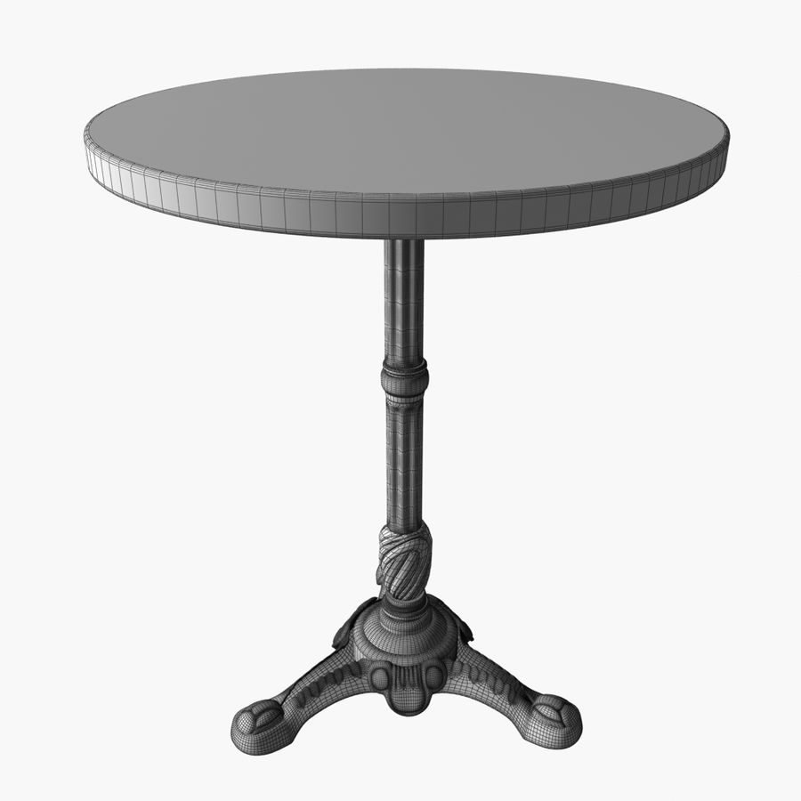 Table And Chair For Cafe 2 royalty-free 3d model - Preview no. 7