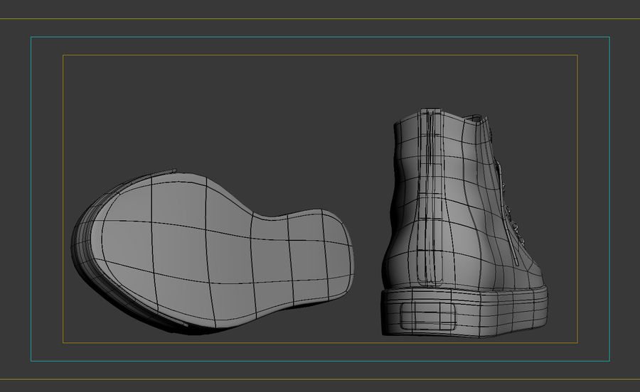3d sneakers. Shoe converse royalty-free 3d model - Preview no. 8