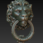 Door Knocker Lion Head 3d model