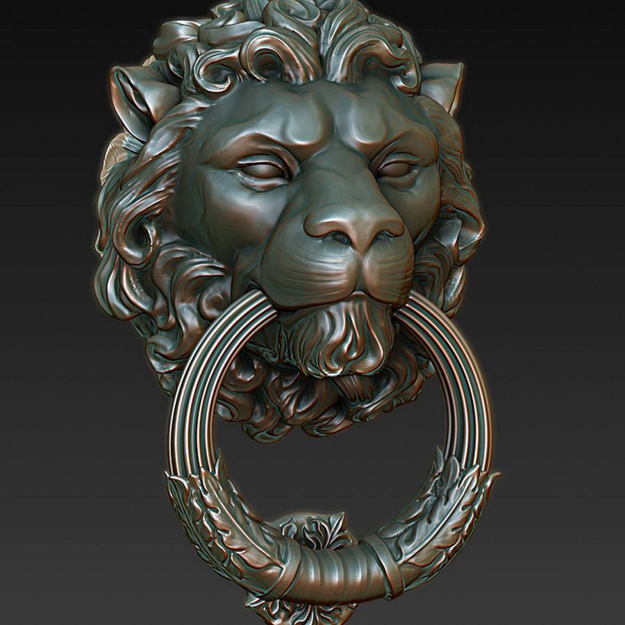 Door Knocker Lion Head 3d Model 19 Fbx Max Free3d