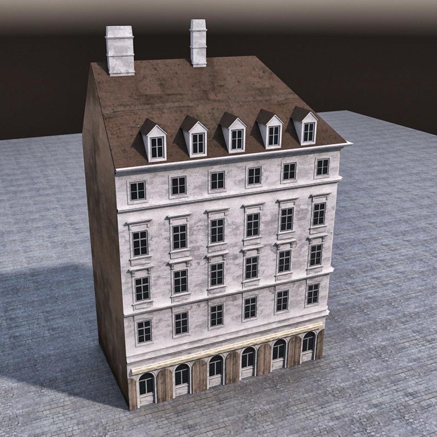 Европейское Здание 005 royalty-free 3d model - Preview no. 6