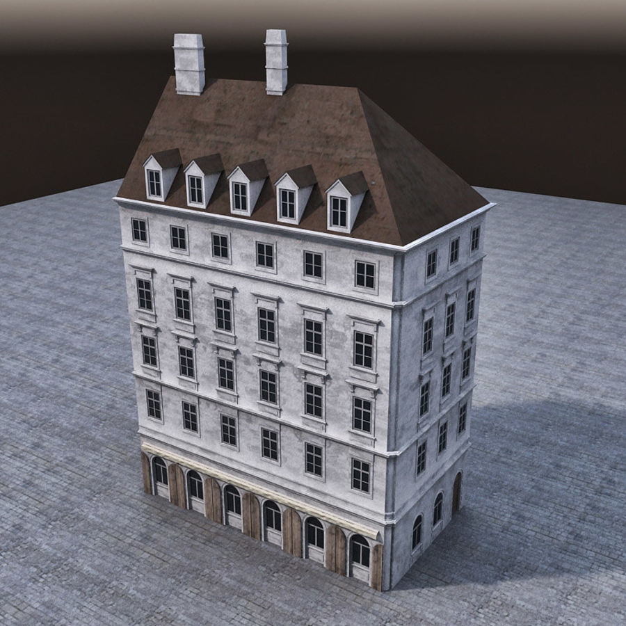 Европейское Здание 005 royalty-free 3d model - Preview no. 3