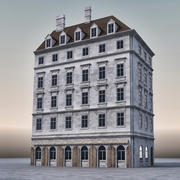 Европейское Здание 005 3d model