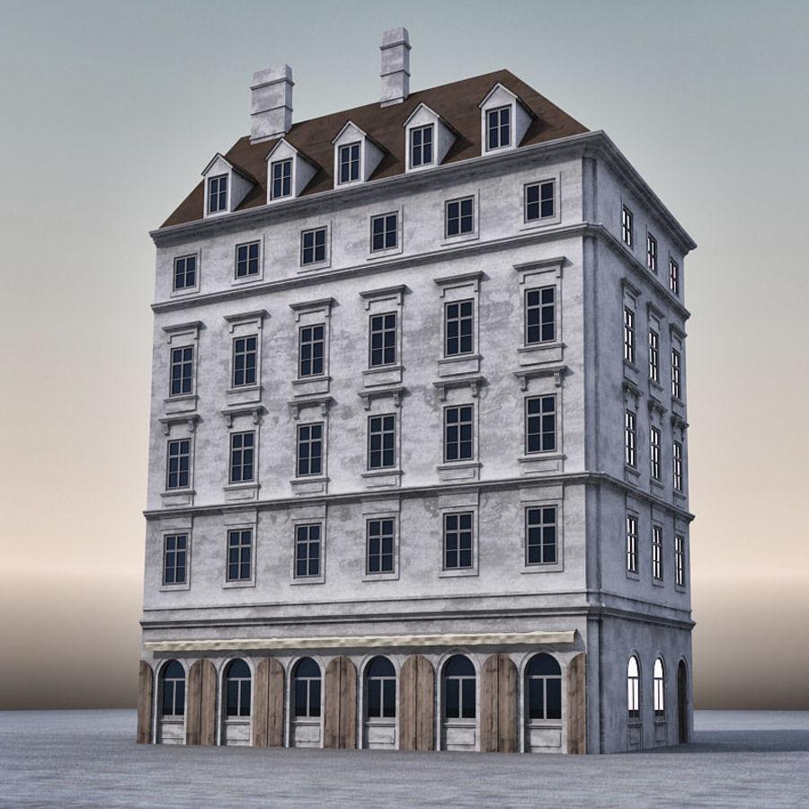 Европейское Здание 005 royalty-free 3d model - Preview no. 1