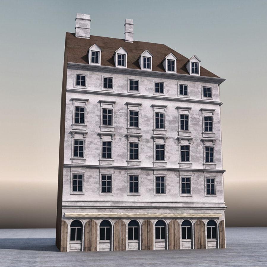 Европейское Здание 005 royalty-free 3d model - Preview no. 5