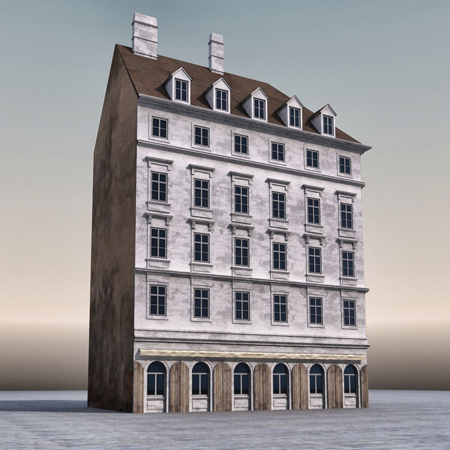 Европейское Здание 005 royalty-free 3d model - Preview no. 2