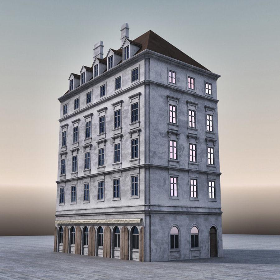 Европейское Здание 005 royalty-free 3d model - Preview no. 4