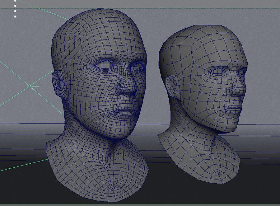 Основная мужская голова royalty-free 3d model - Preview no. 9