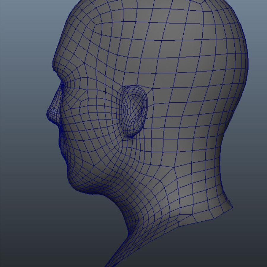 Основная мужская голова royalty-free 3d model - Preview no. 14