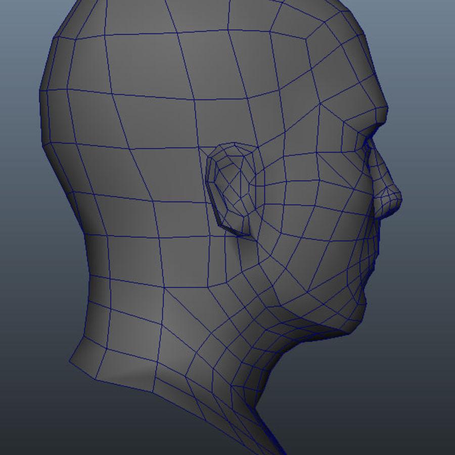 Основная мужская голова royalty-free 3d model - Preview no. 5