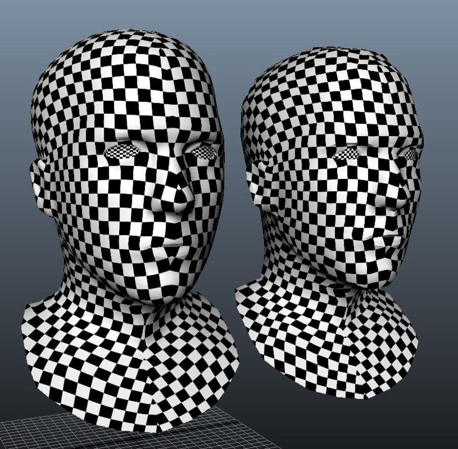 Основная мужская голова royalty-free 3d model - Preview no. 10