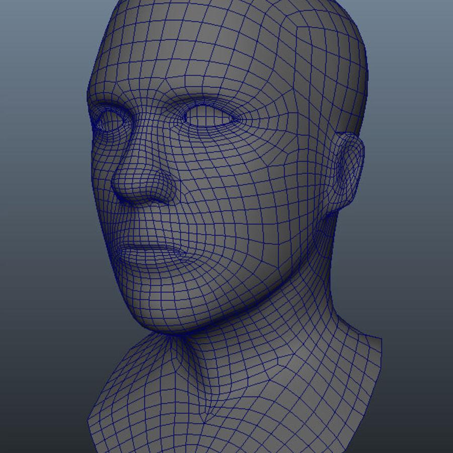 Основная мужская голова royalty-free 3d model - Preview no. 6