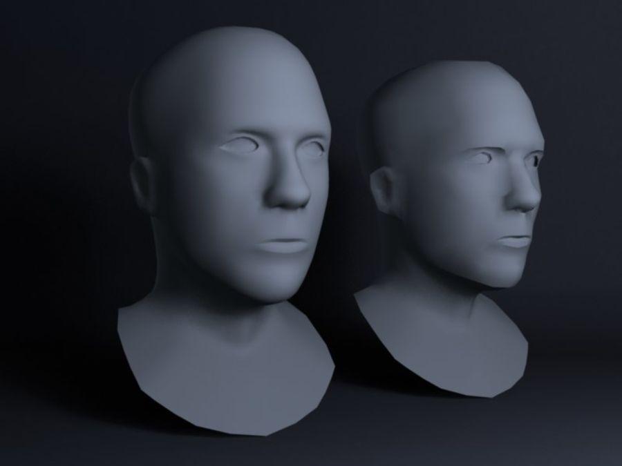 Основная мужская голова royalty-free 3d model - Preview no. 8