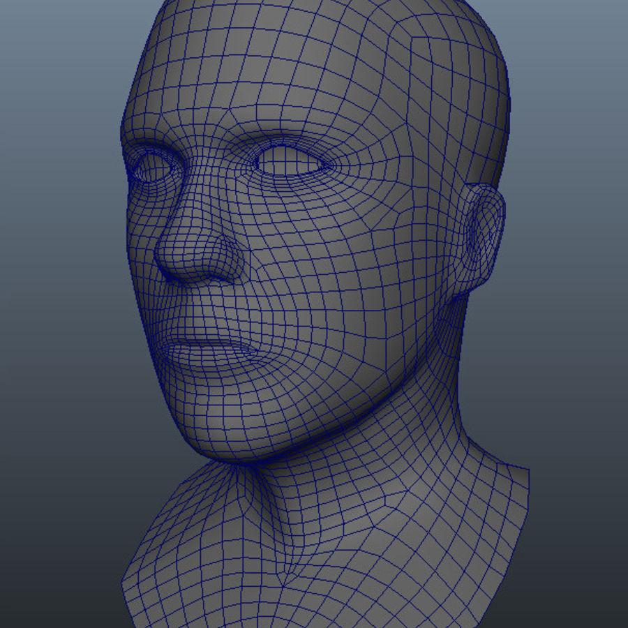 Основная мужская голова royalty-free 3d model - Preview no. 13