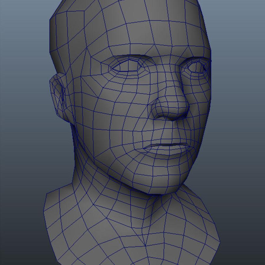 Основная мужская голова royalty-free 3d model - Preview no. 11