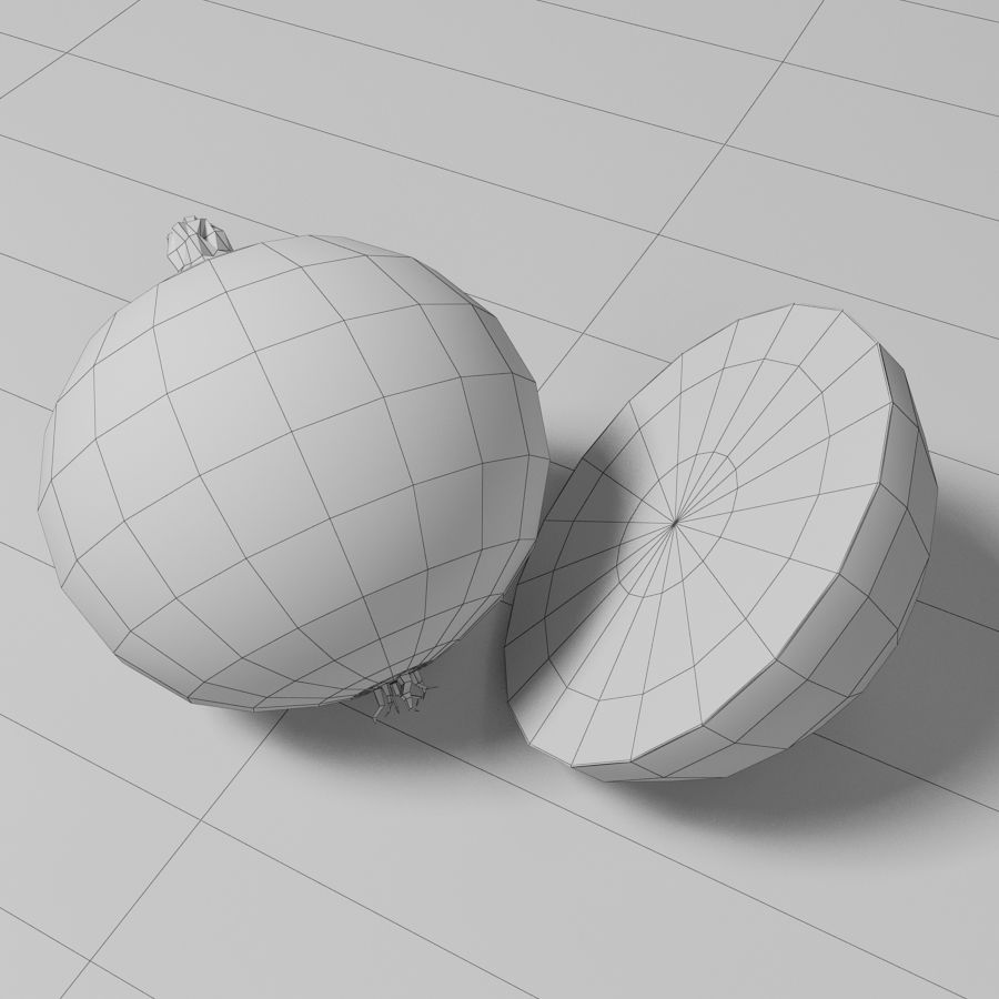 Onion royalty-free 3d model - Preview no. 7