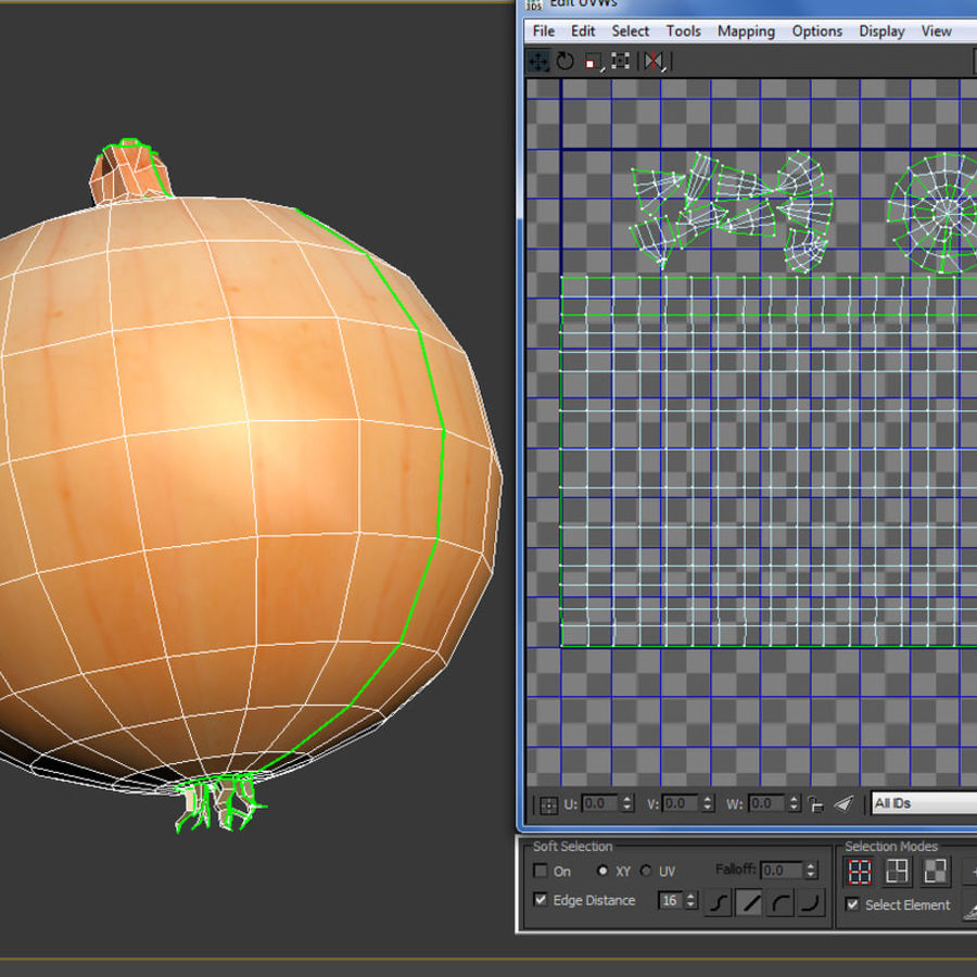 Onion royalty-free 3d model - Preview no. 9