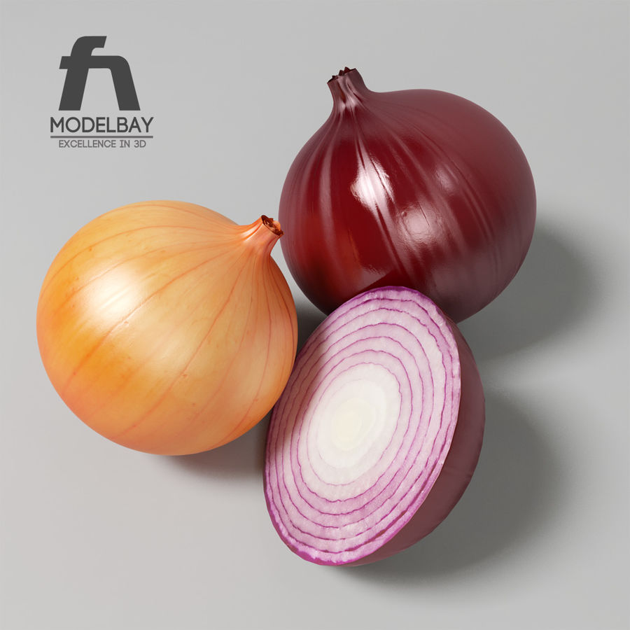 Onion royalty-free 3d model - Preview no. 3