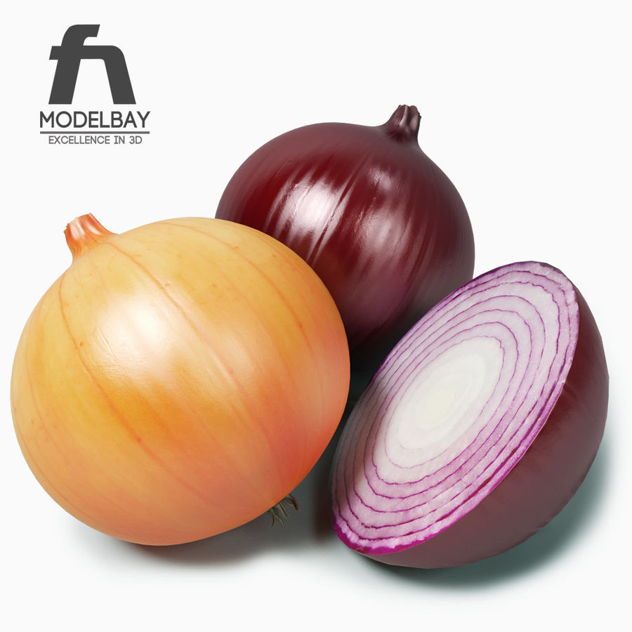 Onion royalty-free 3d model - Preview no. 1