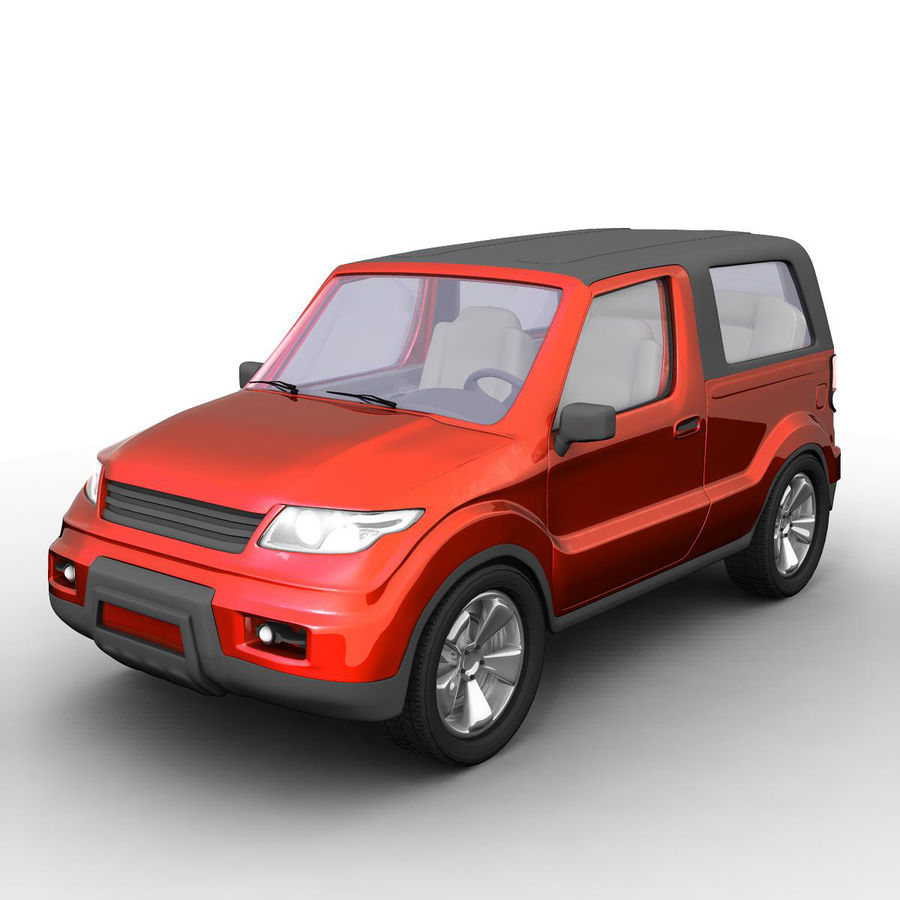 SUV 자동차 royalty-free 3d model - Preview no. 1