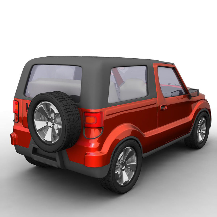 SUV 자동차 royalty-free 3d model - Preview no. 4
