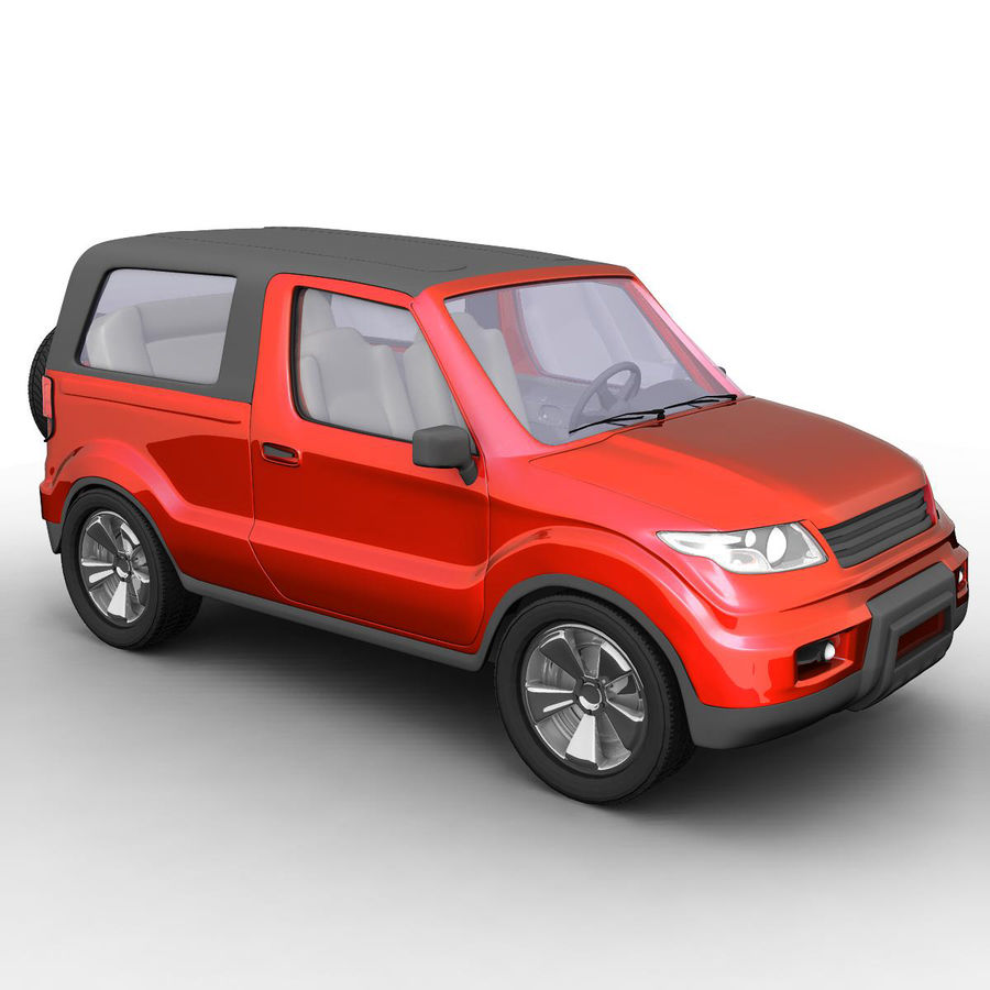 SUV 자동차 royalty-free 3d model - Preview no. 3
