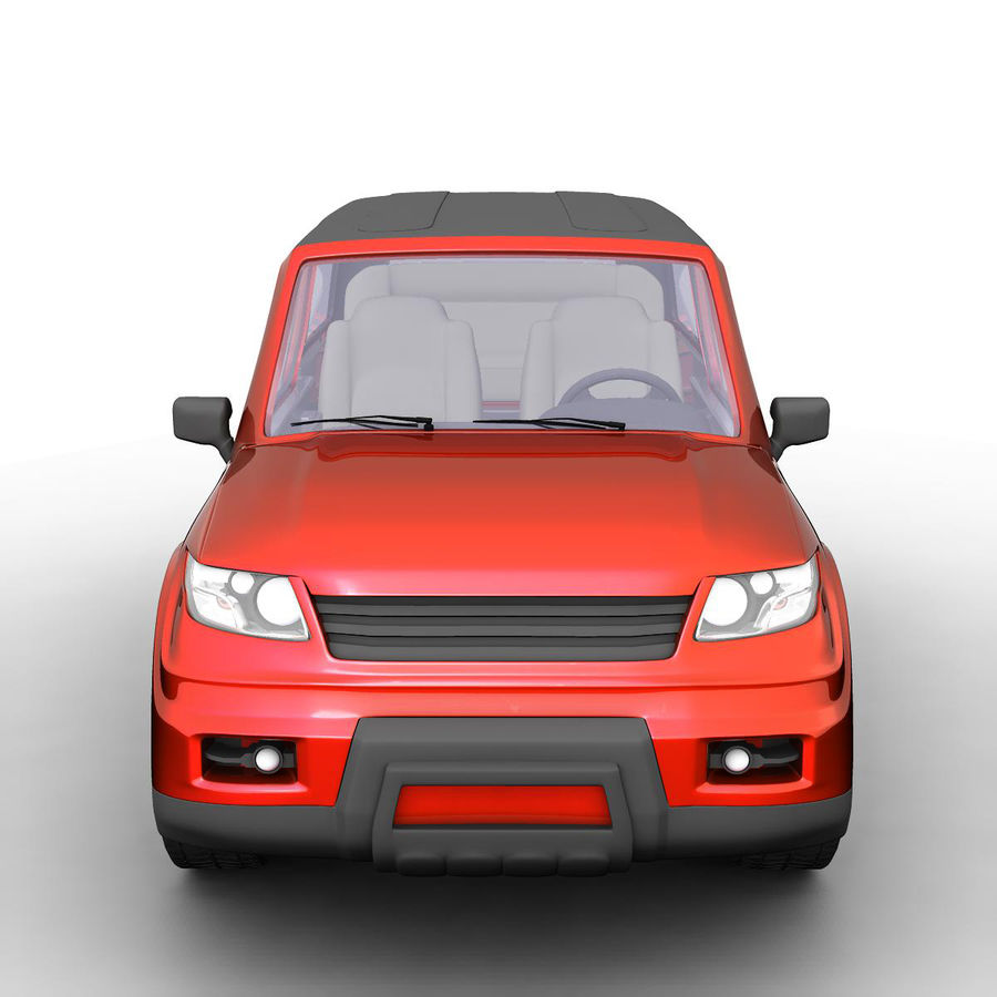 SUV 자동차 royalty-free 3d model - Preview no. 2