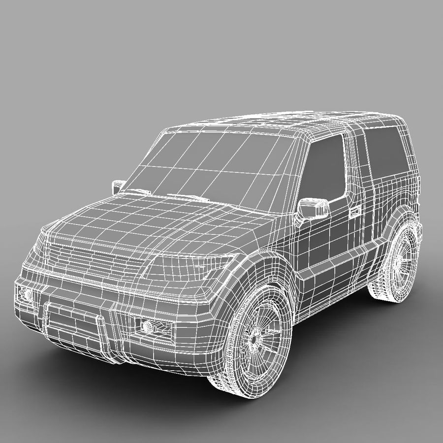 SUV 자동차 royalty-free 3d model - Preview no. 5