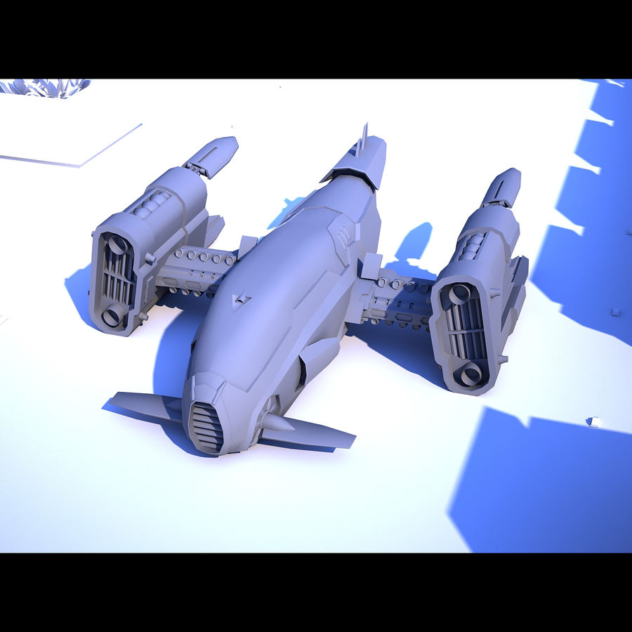 Sci-Fi Spaceship royalty-free 3d model - Preview no. 5