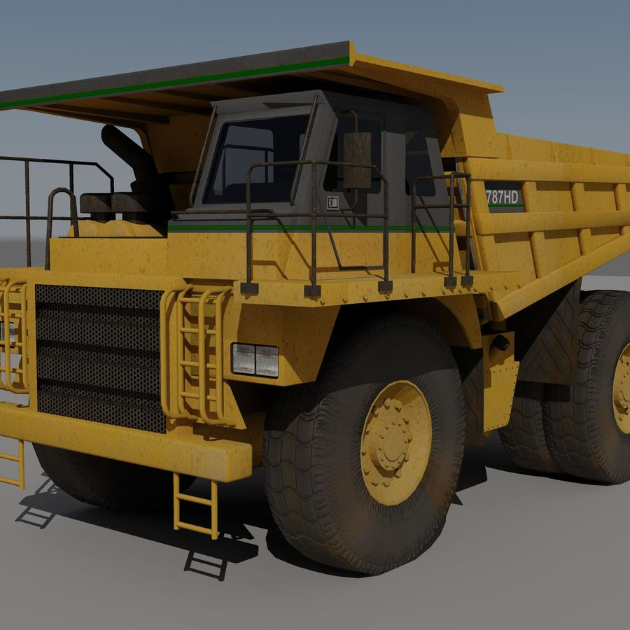 Dump Truck 2 royalty-free 3d model - Preview no. 4