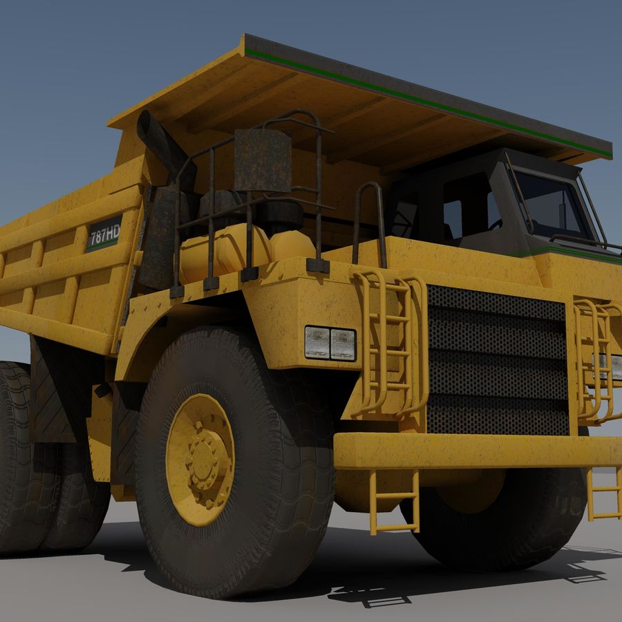 Dump Truck 2 royalty-free 3d model - Preview no. 3