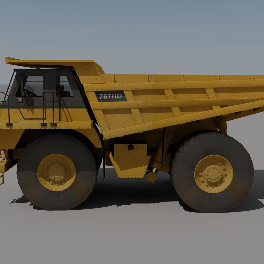 Dump Truck 2 royalty-free 3d model - Preview no. 2