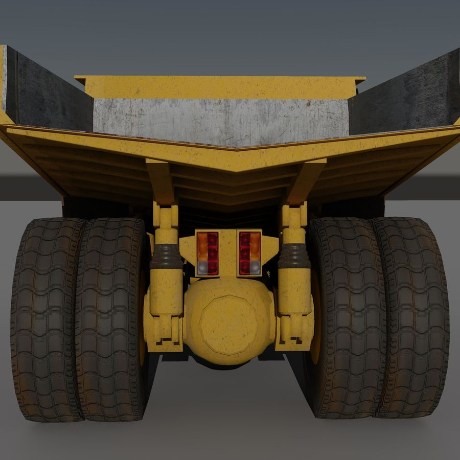 Dump Truck 2 royalty-free 3d model - Preview no. 12