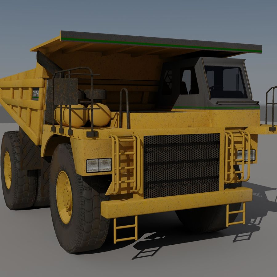 Dump Truck 2 royalty-free 3d model - Preview no. 8
