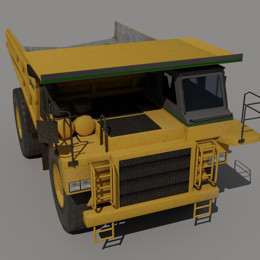 Dump Truck 2 royalty-free 3d model - Preview no. 5