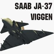 Saab JA 37 Viggen 3d model