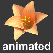 stylized animated blossom 3d model