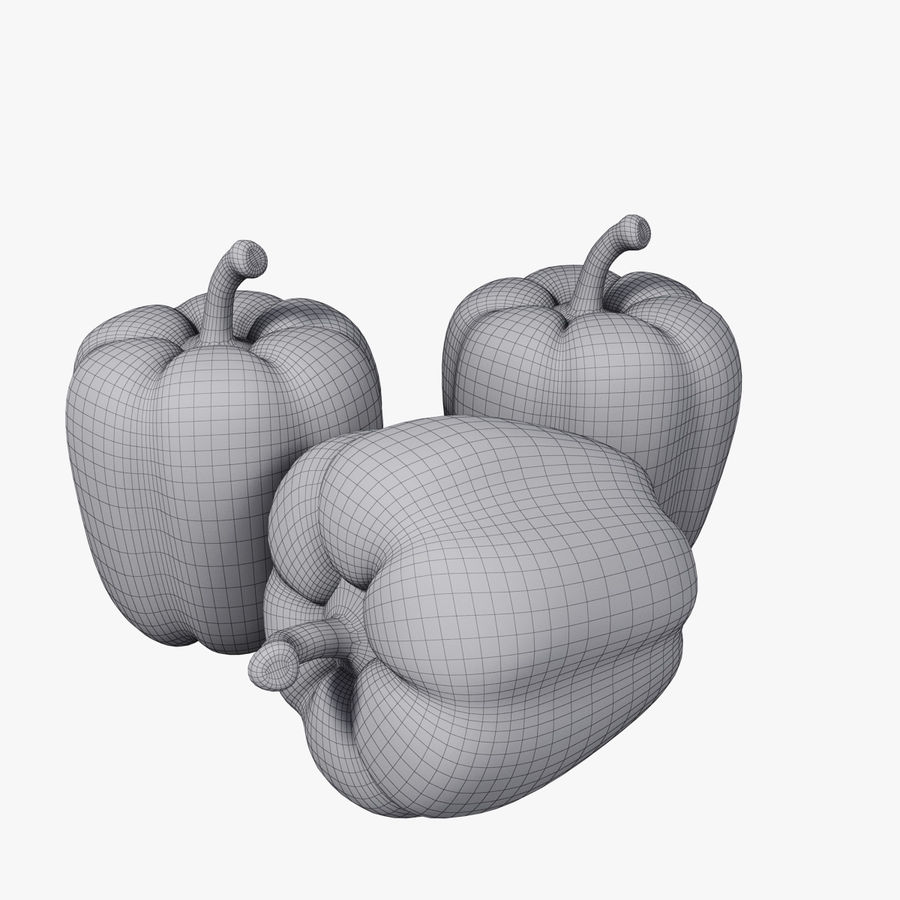 Pepper royalty-free 3d model - Preview no. 4