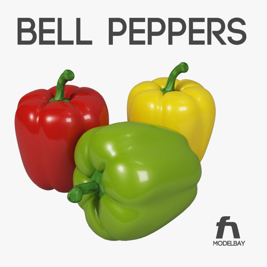 Pepper royalty-free 3d model - Preview no. 1