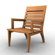 Sedia di legno 3d model