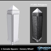Canary Wharf 3d model