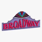 Segno del teatro di Broadway 3d model