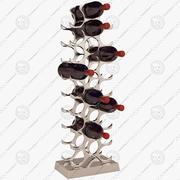 Eichholtz Winerack 27 flaskor med flaskor 3d model