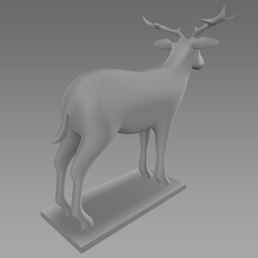 Cerf royalty-free 3d model - Preview no. 4