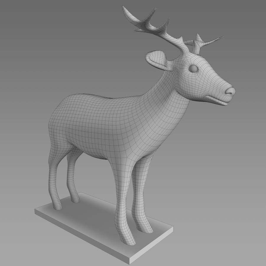Cerf royalty-free 3d model - Preview no. 8