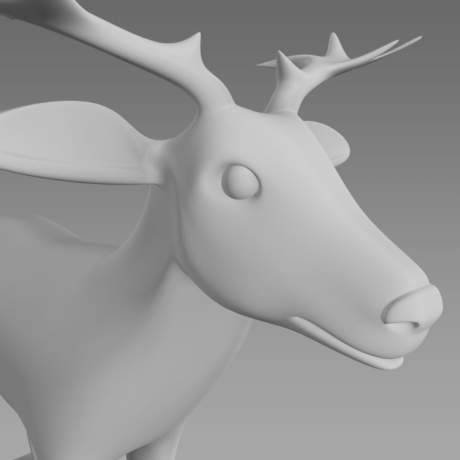 Cerf royalty-free 3d model - Preview no. 5